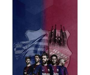 leo messi and fcb image