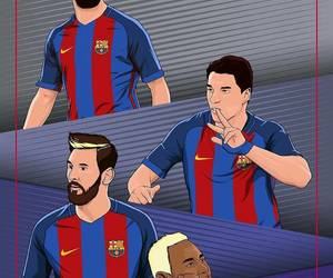 msn, neymar, and messi image