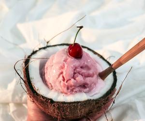 ice cream, food, and coconut image