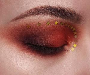 makeup, stars, and red image