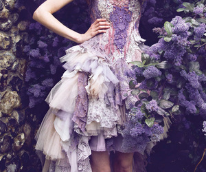 dress, flower, and lilac image