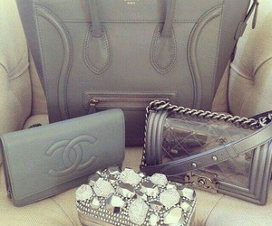 bags, grey, and classy image