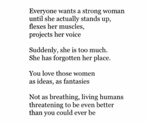 woman, strong, and feminism image