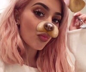 kylie jenner, snapchat, and pink image
