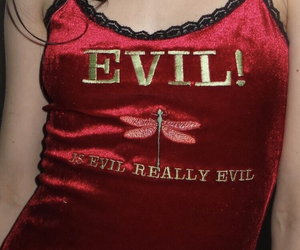 red, evil, and velvet image