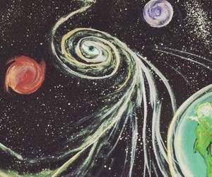 art, outer space, and planets image