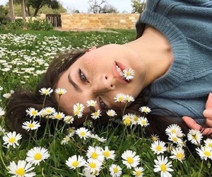 girl, flowers, and tumblr image
