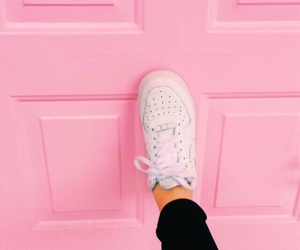 colors, pink, and door image