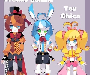 character design, fnaf2, and toy freddy image