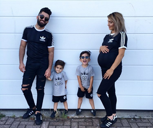 couple, baby, and family image