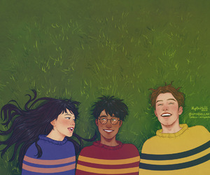 cedric diggory, gryffindor, and harry potter image