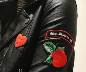 black, rose, and grunge image