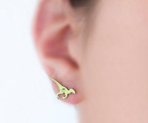 dinosaur, earrings, and etsy image