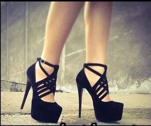 black, shoes, and heels image