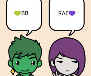 raven, beast boy, and rachel roth image