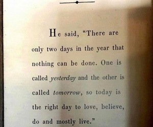 quote, yesterday, and believe image