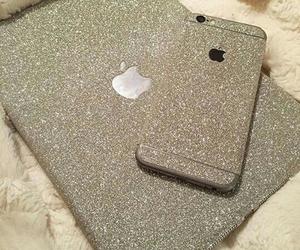beautiful, silver, and glitter image