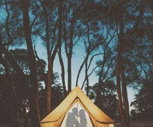camping, couple, and vacances image