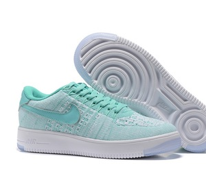 Womens Nike Air Force 1 Flyknit Running Shoes Mint Teal