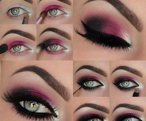 beauty, tutorial, and eyes image
