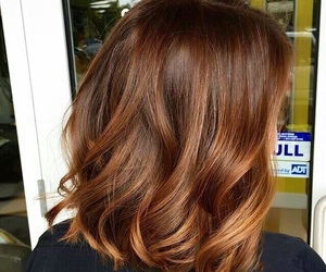 aesthetic, brown, and hair image