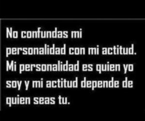 frases, personalidad, and actitud image