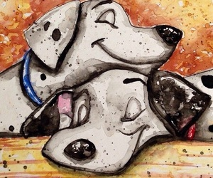disney, dogs, and 101 dalmations image