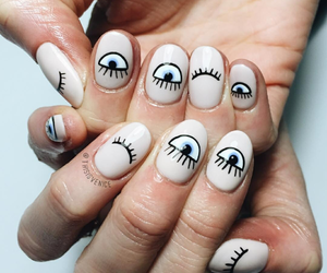 nails, design, and eyes image