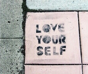 love yourself, yourself, and love image