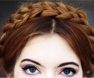 hair, eyes, and braid image