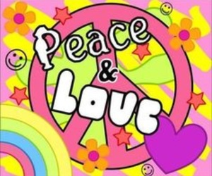 hippie, peace, and peace and love sign image