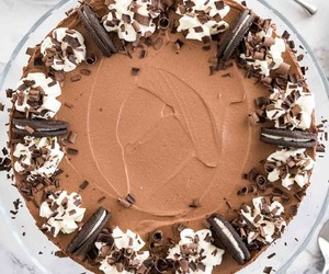 cheesecake, pretty, and chocolate image
