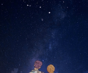 background, couple, and galaxy image