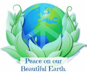 earth, peace, and hippie image