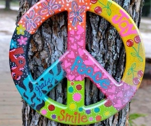colors, hippie, and peace image
