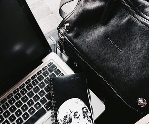 bag, black, and laptop image