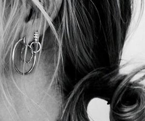 earrings, hair, and girl image