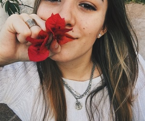 day, flower, and girl image