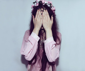 flowers, grunge, and cute girls image