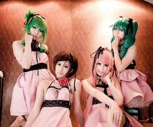 cosplay, girls, and dresess image