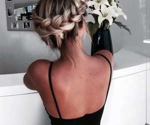 blonde, hair, and braid image