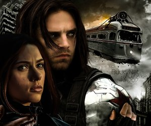 black widow, Marvel, and winter soldier image