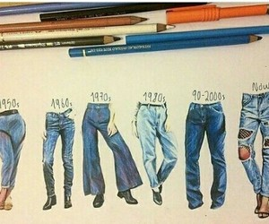 drawing, jeans, and art image