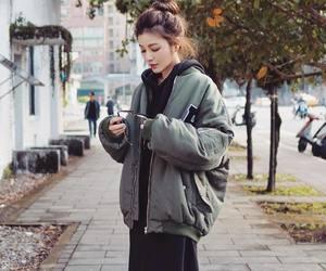 jacket, oversize, and style image