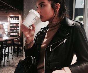 girl, coffee, and model image