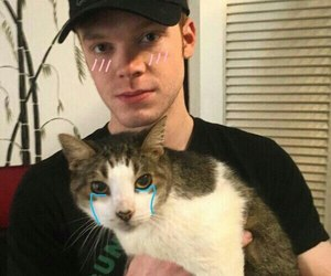 cameron monaghan and cat image
