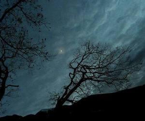 sky, dark, and landscape image