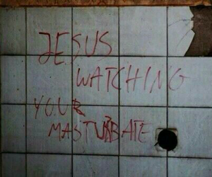 fun, jesus, and wall image