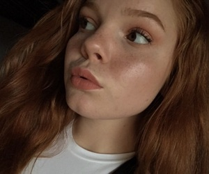 beauty, brown eyes, and freckles image