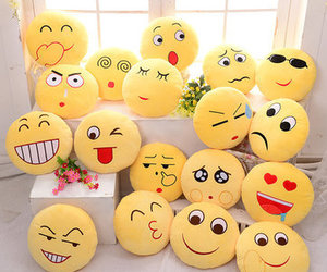 pillow, cute, and emoji image